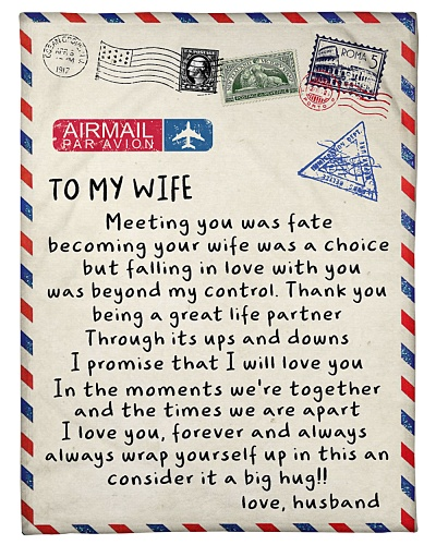TO MY WIFE - BLANKET- S
