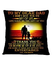 Special gift for Father's Day - Kun pillow Square Pillowcase back