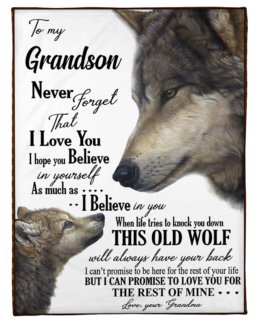 """To my dear grandson never forget that i love you Small Fleece Blanket - 30"""" x 40"""""""