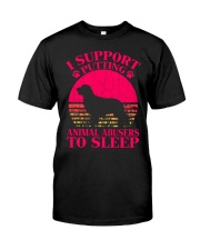 I Support Putting Animal Abusers To Sleep - C0 Classic T-Shirt thumbnail