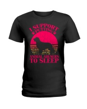 I Support Putting Animal Abusers To Sleep - C0 Ladies T-Shirt thumbnail