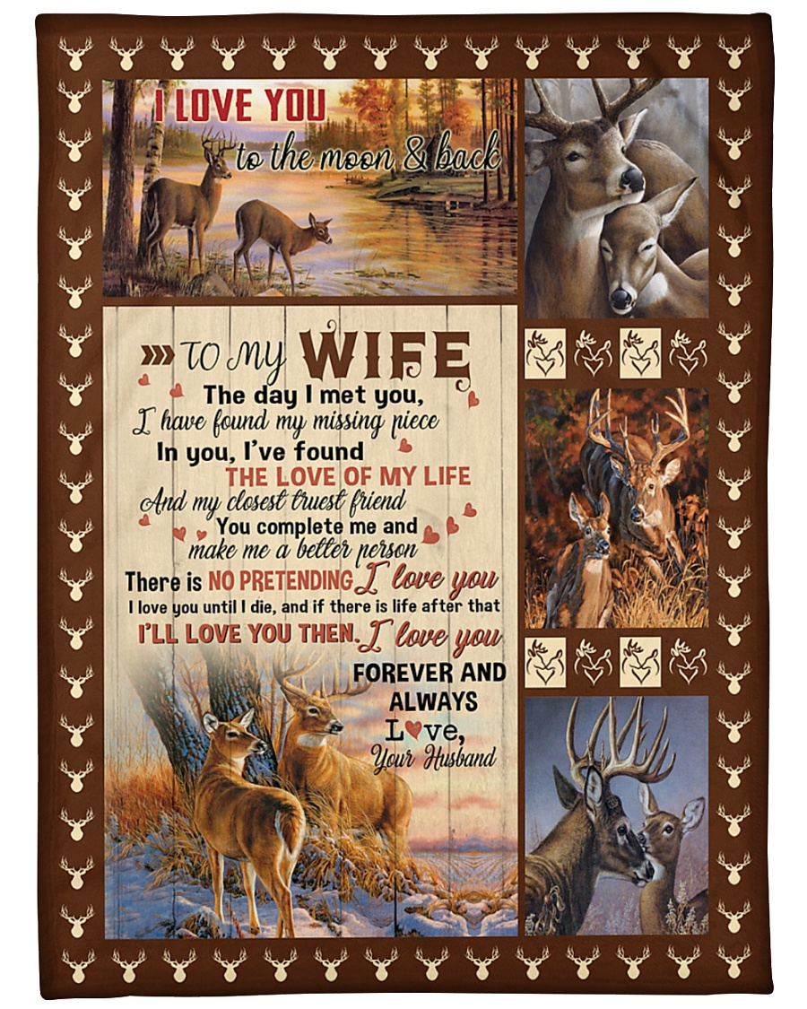 "To my wife with love Large Fleece Blanket - 60"" x 80"""
