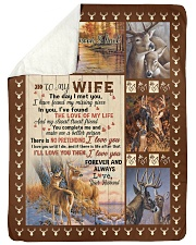 To my wife with love Sherpa Fleece Blanket tile