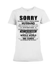 HUSBAND TO WIFE D3 Premium Fit Ladies Tee thumbnail