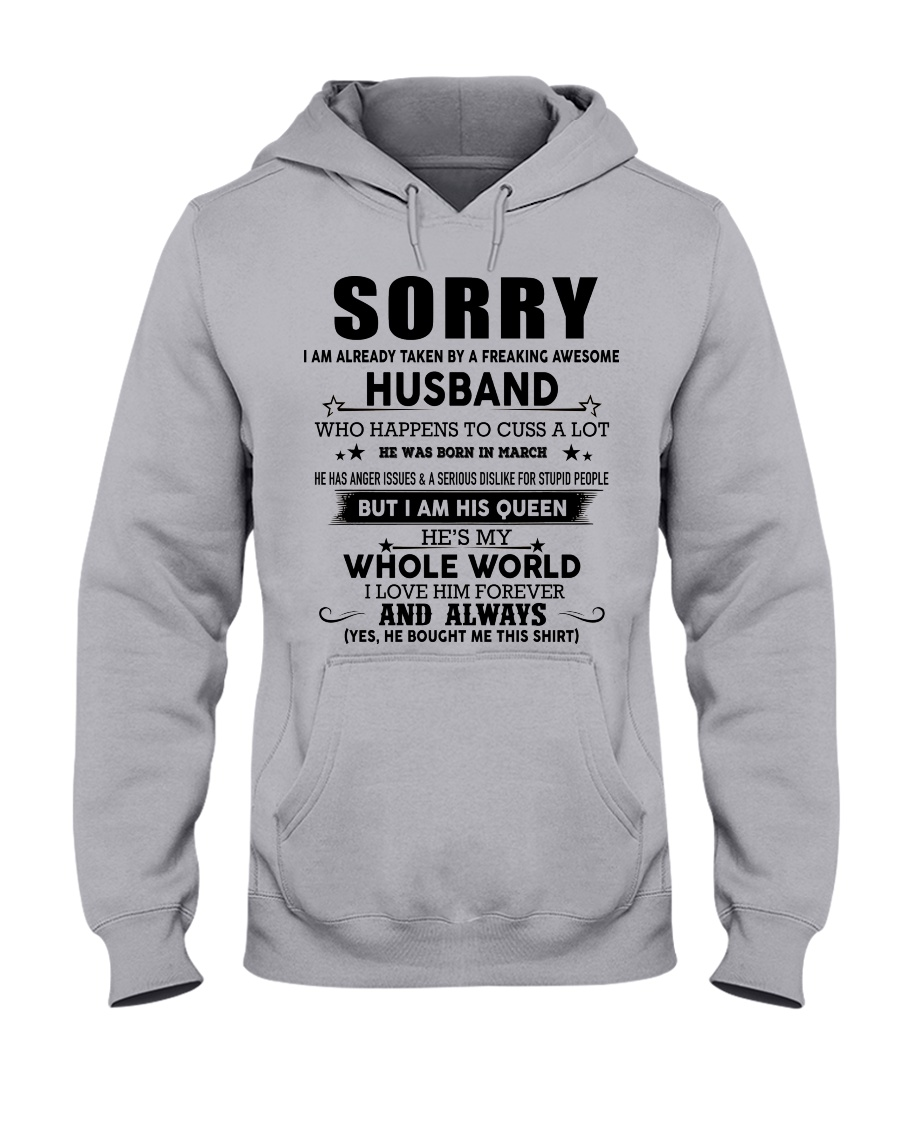 HUSBAND TO WIFE D3 Hooded Sweatshirt