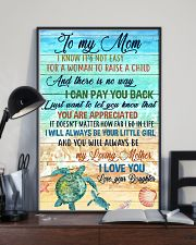 Special gift for MOM - DAUGHTER 11x17 Poster lifestyle-poster-2