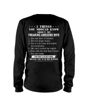 5 THINGS YOU SHOULD KNOW ABOUT MY WIFE - OCTOBER Long Sleeve Tee thumbnail