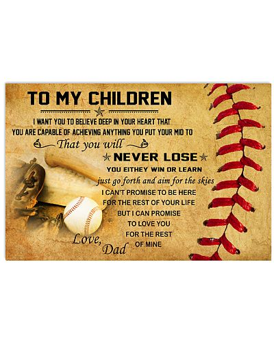 TO MY CHILDREN - baseball