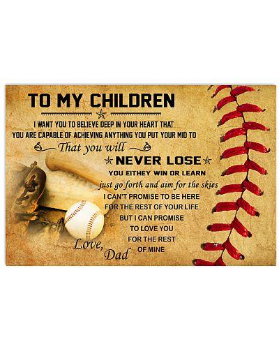 TO MY CHILDREN - baseball