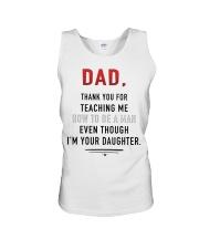 Dad - Thank You For Teaching Me Unisex Tank thumbnail