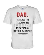 Dad - Thank You For Teaching Me V-Neck T-Shirt thumbnail