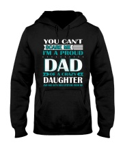 YOU CAN'T SCARE ME I'M PROUD DAD OF A CRAZY  Hooded Sweatshirt thumbnail