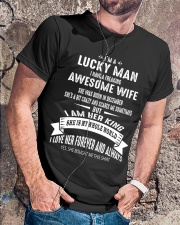 I'm a lucky man - Wife born in December Q12 Classic T-Shirt lifestyle-mens-crewneck-front-4