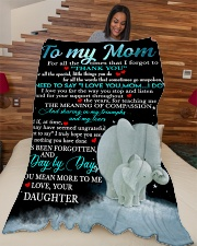 "Special gift for your Mom Large Fleece Blanket - 60"" x 80"" aos-coral-fleece-blanket-60x80-lifestyle-front-04"