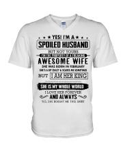 Gifts for Husband- February V-Neck T-Shirt thumbnail