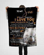 "To my son never forget that i love you gift Small Fleece Blanket - 30"" x 40"" aos-coral-fleece-blanket-30x40-lifestyle-front-14"