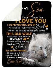 "To my son never forget that i love you gift Large Sherpa Fleece Blanket - 60"" x 80"" thumbnail"
