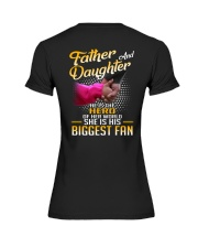 Father and daughter - He is hero of her world Premium Fit Ladies Tee thumbnail