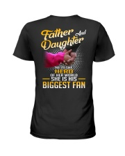 Father and daughter - He is hero of her world Ladies T-Shirt thumbnail