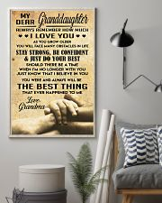 Granddaughter gift 11x17 Poster lifestyle-poster-1