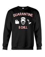 Quarantine and chill funny shirt gift t-shirt Crewneck Sweatshirt thumbnail