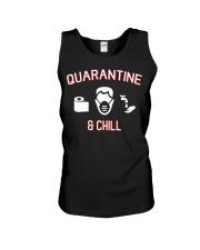 Quarantine and chill funny shirt gift t-shirt Unisex Tank thumbnail