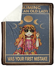 """ASSUMING I'M JUST AN OLD LADY Sherpa Fleece Blanket - 50"""" x 60"""" thumbnail"""
