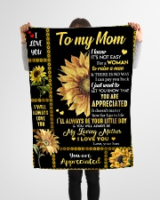 "To my Mom T4-70 Small Fleece Blanket - 30"" x 40"" aos-coral-fleece-blanket-30x40-lifestyle-front-14"