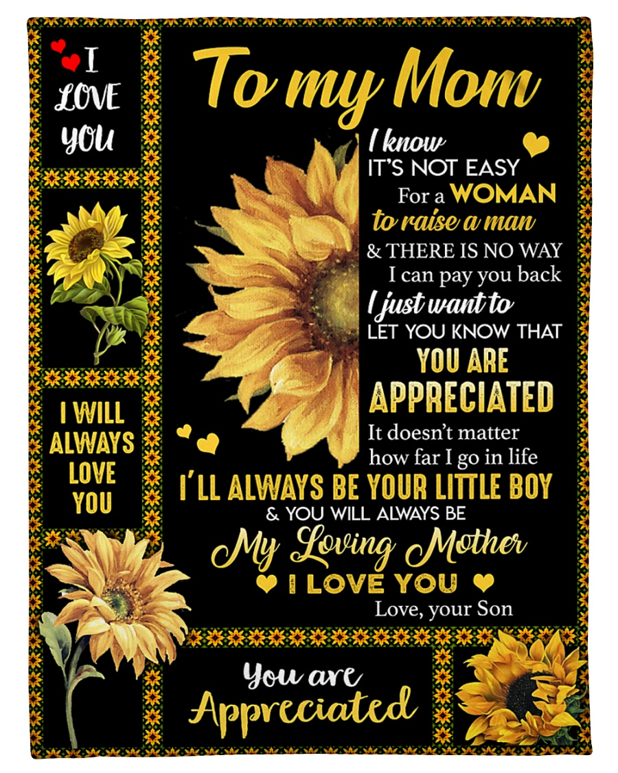 "To my Mom T4-70 Small Fleece Blanket - 30"" x 40"""