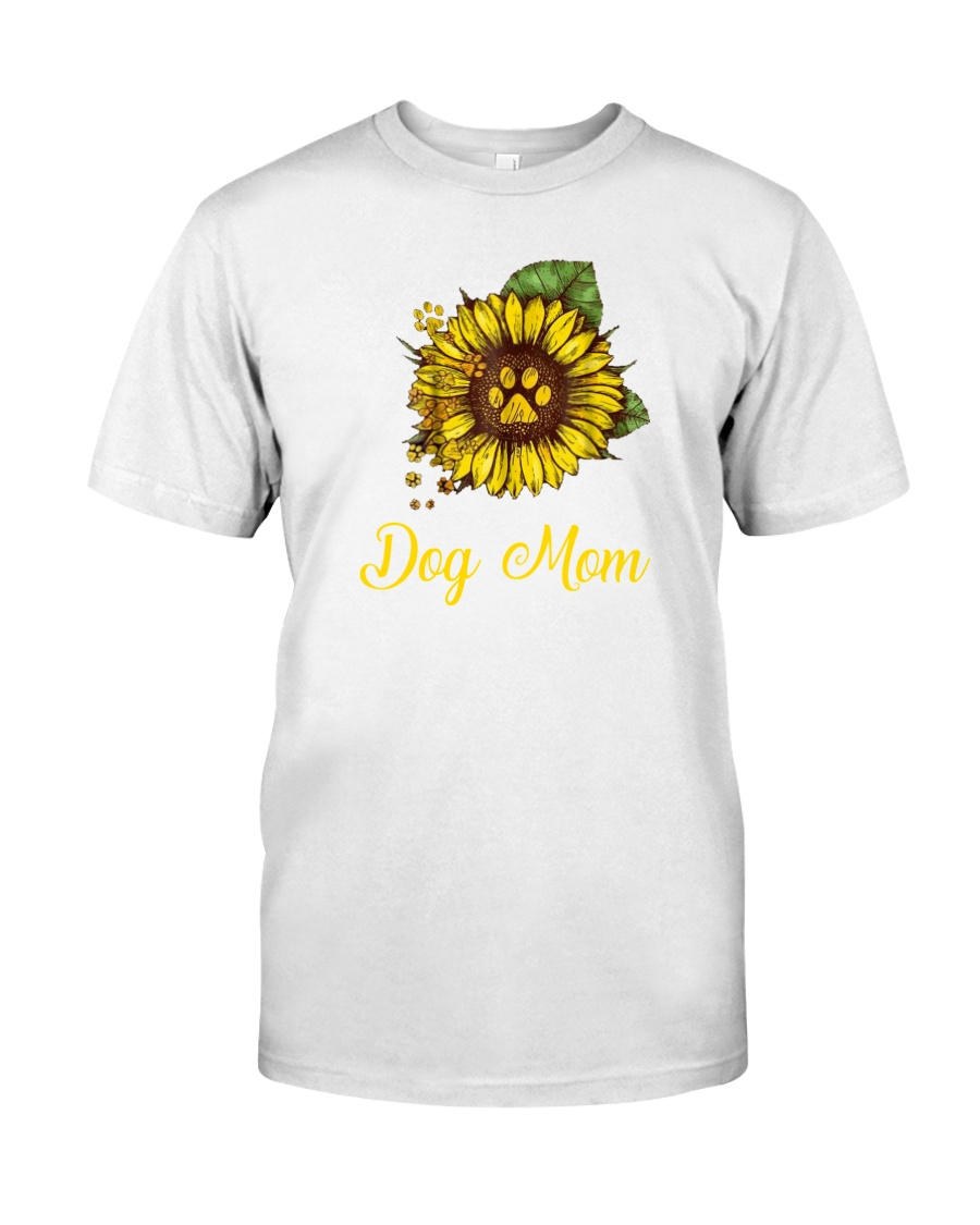 Sunflower Dog Mom Paw  Classic T-Shirt