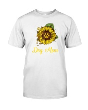 Sunflower Dog Mom Paw  Classic T-Shirt front