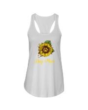 Sunflower Dog Mom Paw  Ladies Flowy Tank thumbnail
