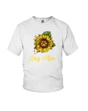 Sunflower Dog Mom Paw  Youth T-Shirt thumbnail