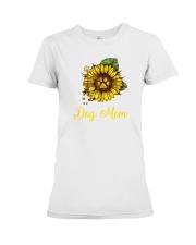 Sunflower Dog Mom Paw  Premium Fit Ladies Tee thumbnail