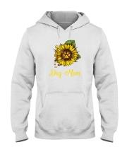Sunflower Dog Mom Paw  Hooded Sweatshirt thumbnail