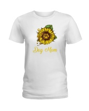 Sunflower Dog Mom Paw  Ladies T-Shirt thumbnail