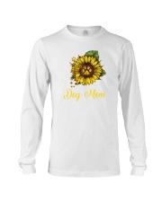 Sunflower Dog Mom Paw  Long Sleeve Tee thumbnail