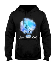Dad and Son Love Never Ends Hooded Sweatshirt thumbnail