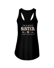 I am a good sister Ladies Flowy Tank thumbnail