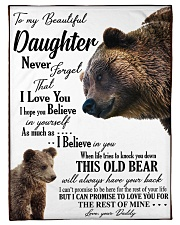 "To my dear daughter never forget that i love you Small Fleece Blanket - 30"" x 40"" front"