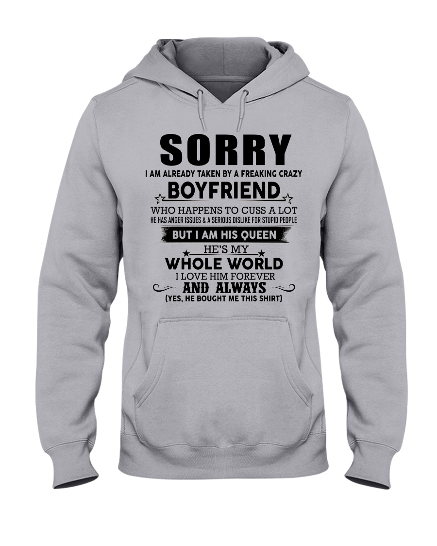 The perfect gift for your girlfriend - D Hooded Sweatshirt