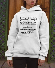 I am a spoiled wife i have an awesome husband - K0 Hooded Sweatshirt apparel-hooded-sweatshirt-lifestyle-front-03