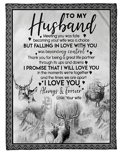 TO MY HUSBAND - BLANKET- S