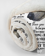 """To my dear son never forget who you are Small Fleece Blanket - 30"""" x 40"""" aos-coral-fleece-blanket-30x40-lifestyle-front-18"""