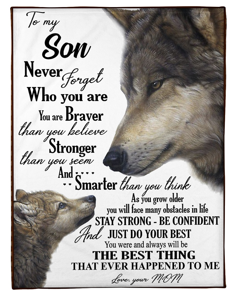"""To my dear son never forget who you are Small Fleece Blanket - 30"""" x 40"""""""