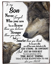 """To my dear son never forget who you are Small Fleece Blanket - 30"""" x 40"""" front"""