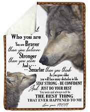 """To my dear son never forget who you are Large Sherpa Fleece Blanket - 60"""" x 80"""" thumbnail"""