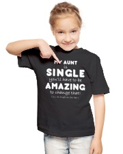 MY AUNT IS SINGLE - FUNNY TEE SHIRT Youth T-Shirt lifestyle-youth-tshirt-front-2