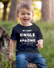 MY AUNT IS SINGLE - FUNNY TEE SHIRT Youth T-Shirt lifestyle-youth-tshirt-front-4