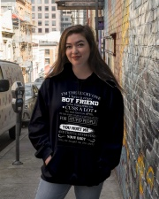 I have crazy boyfriend 4 Hooded Sweatshirt lifestyle-unisex-hoodie-front-1